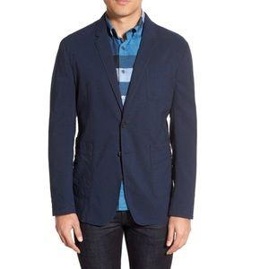 NWT Burberry Brit men's blazer jacket cotton linen